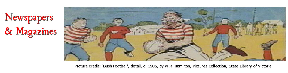 Newspapers And Magazines Reading Australian Rules Football
